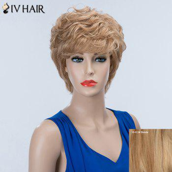 Layered Short Curly Inclined Bang Siv Human Hair Wig