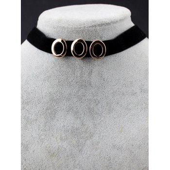 Oval Velvet Choker Necklace