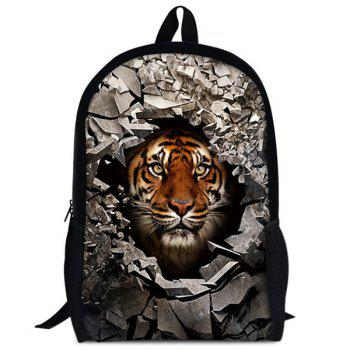 Animal Rubble 3D Print Backpack - TIGER PRINT TIGER PRINT