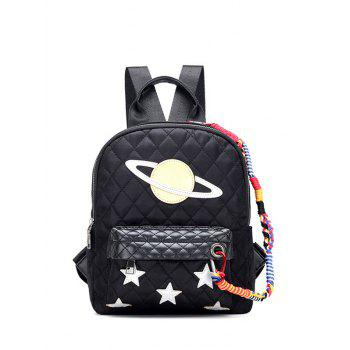 Star Pattern Stitching Argyle Backpack