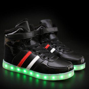 Led Luminous Flocking High Top Shoes