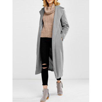 Length Lapel Woolen Blend Coat