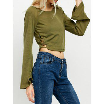 Flared Long Sleeve Crop Tee