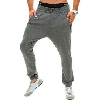 Elastic Waist Loose Zip Pocket Jogger Pants