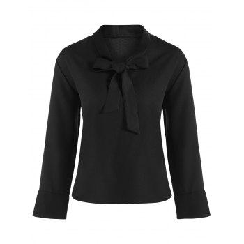 Bow Collar Chiffon Blouse