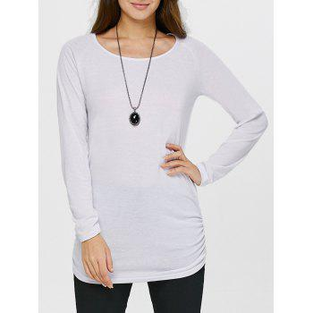 Ruched Long Sleeves Tunic T-Shirt