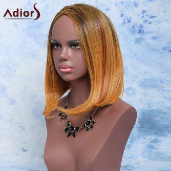 Adiors Straight Short Side Parting Mixed Color Synthetic Hair Wig - COLORMIX