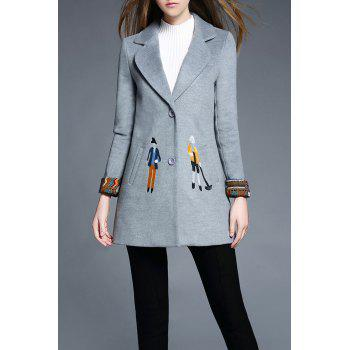 Lapel Cartoon Embroidered Coat