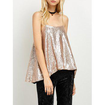 Cami Sequined Loose Tank Top