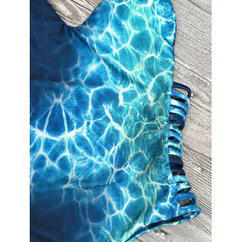 Cami Tie-Dyed Imprimer Strappy One-Piece Maillots de bain - Pers S
