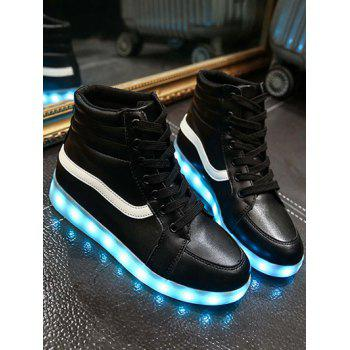 Trendy Led Lumineux et High Top Design Femmes de Sneakers