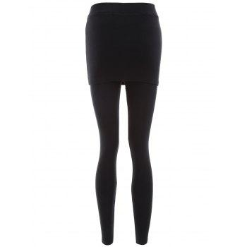 Ankle Length Skirted Leggings - ONE SIZE ONE SIZE