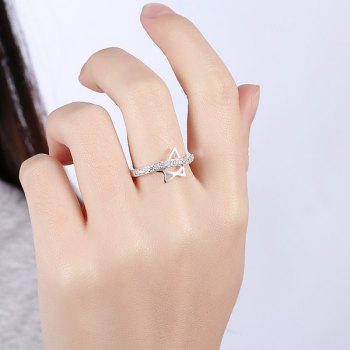 Star Rhinestone Ring - SILVER 7
