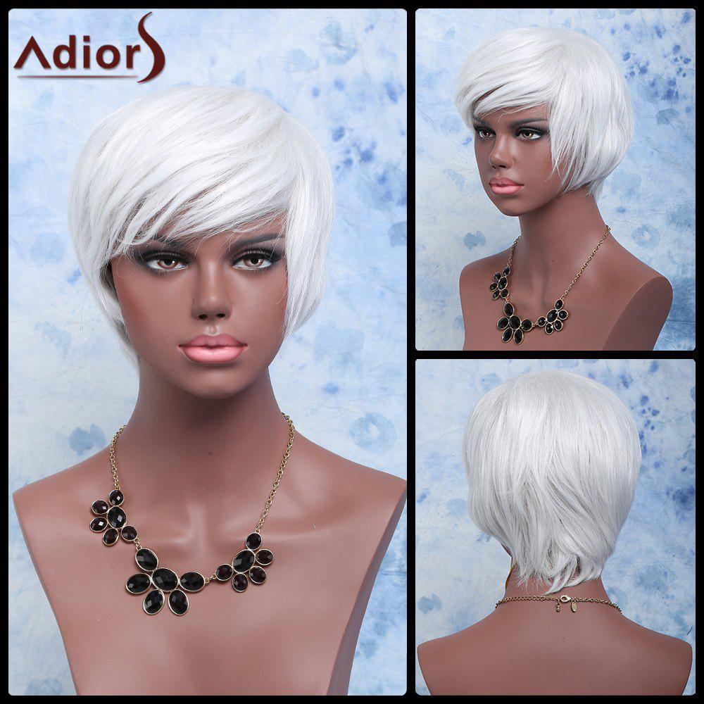 Adiors Short Shaggy Wavy Color Mixed Full Bang Synthetic Wig - COLORMIX