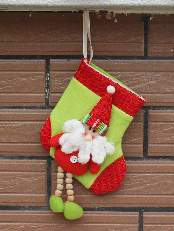 цена Christmas Decor Santa Claus Hanging Stocking Present Bag