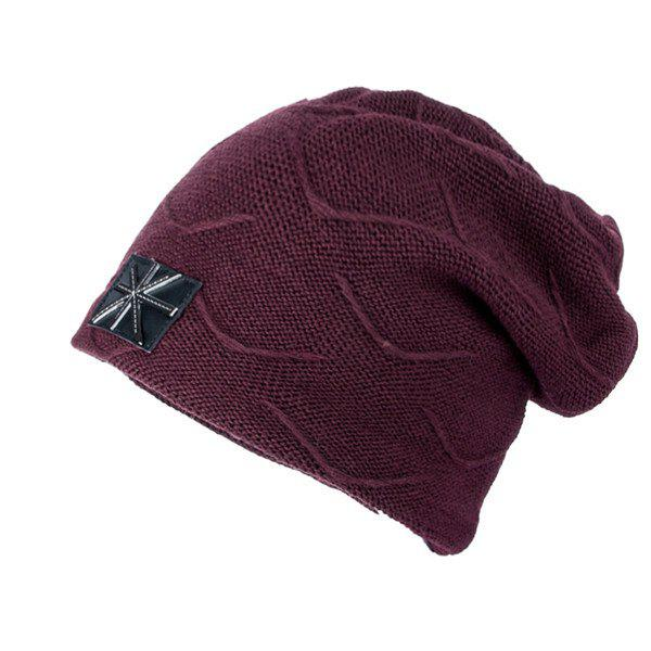 British Flag Patch Knitted Beanie 204043504