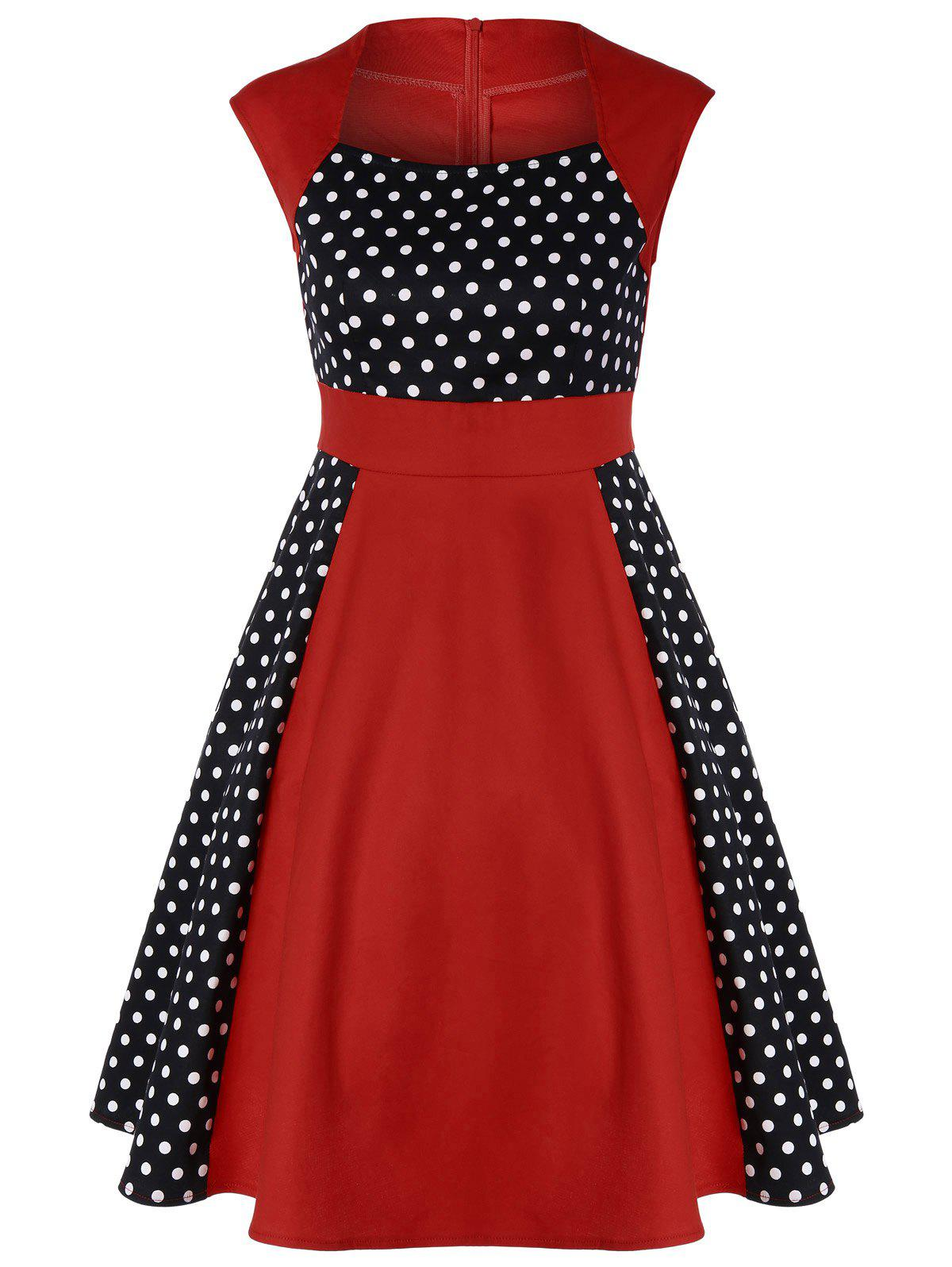 Polka Dot Panel Vintage Dress туалетная вода clean men 30 мл