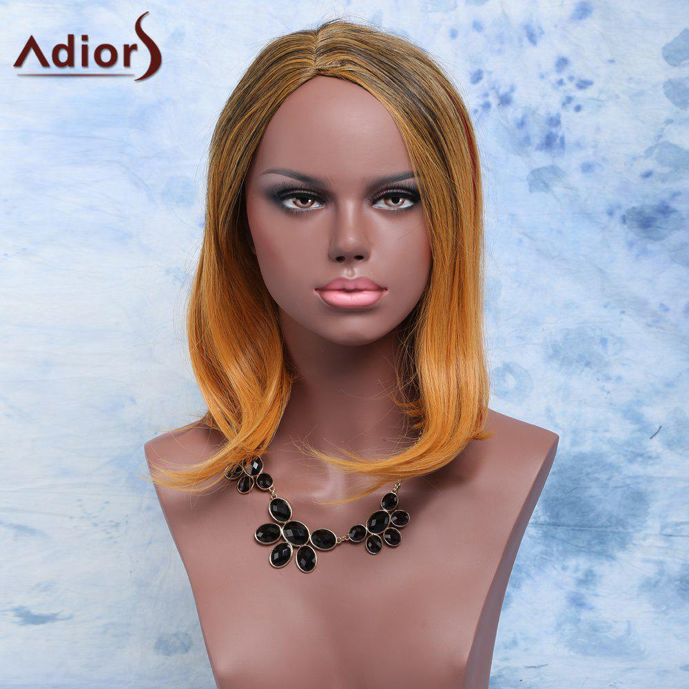 Adiors Straight Short Side Parting Mixed Color Synthetic Hair Wig gps модуль для iroad v9 a9 t10 q7 q9