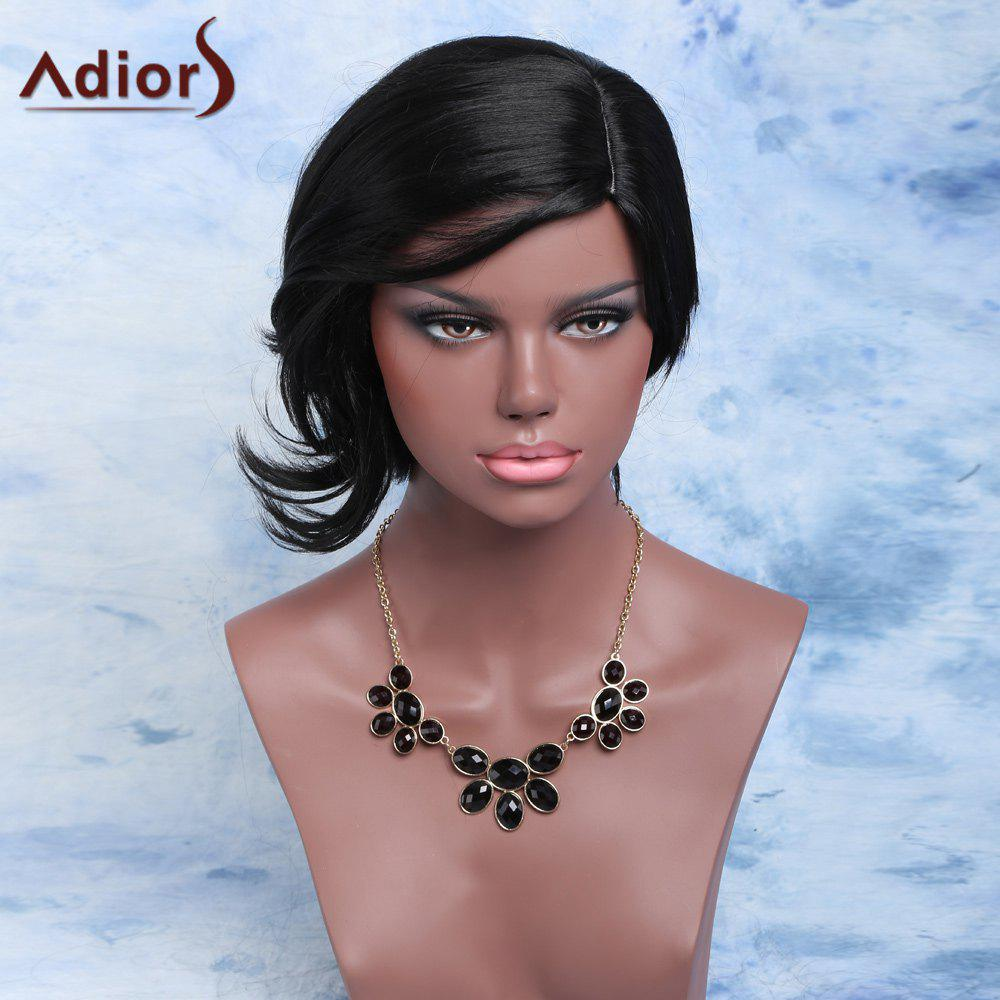 Adiors Fluffy Short Slightly Curled Side Parting Synthetic Wig pool billiard cue cherry brown wood 11 75mm