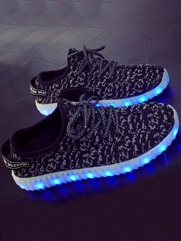 For Women Lights Up Led Luminous And Colour Block Athletic Shoes