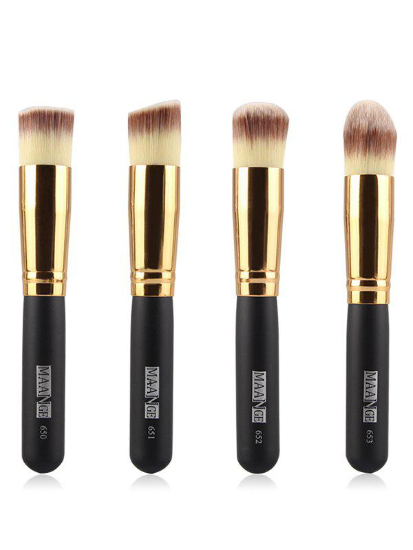 4 Pcs Foundation Makeup Brushes Set gujhui 15pcs wooden foundation makeup brushes sets
