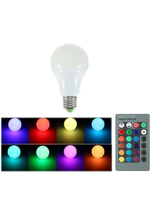 Color Changing Romote Control Energy Saving LED Bulb Light - WHITE