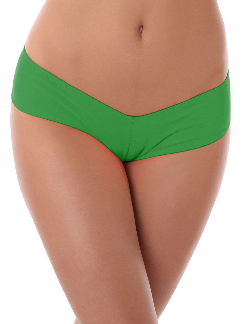 Low Waist Stretchy Panties - GREEN M