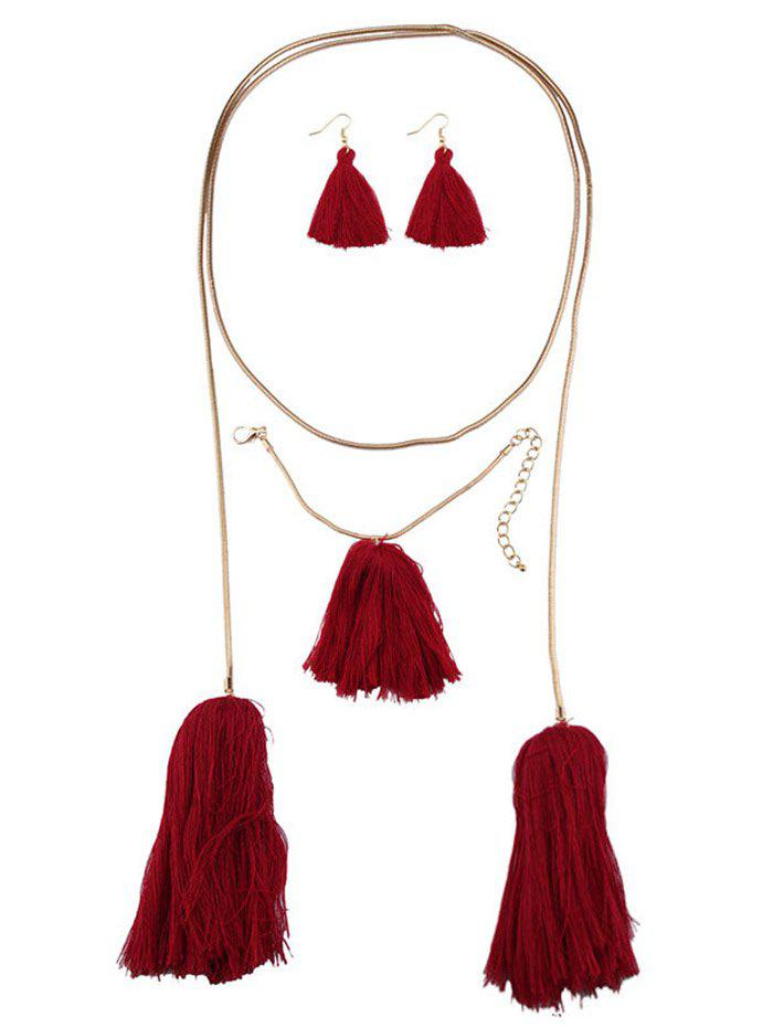 Tassel Necklace Earrings and Bracelet