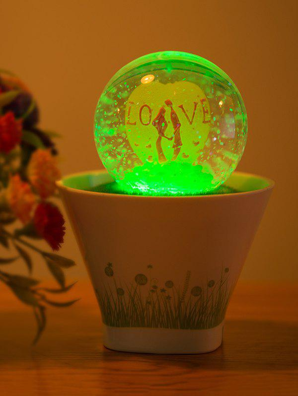 Color Change Lovers USB Glass Ball Bonsai LED Night LightHome<br><br><br>Color: WHITE