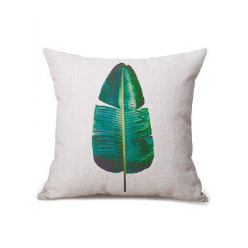 Banana Leaf Printed Linen Chair Backrest Throw Pillowcase