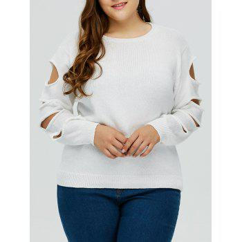 Cut Out Plus Size Crew Neck Sweater