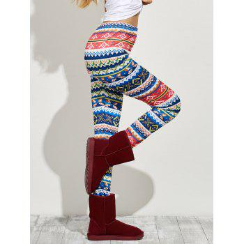 Geometric High Waist Skinny Leggings