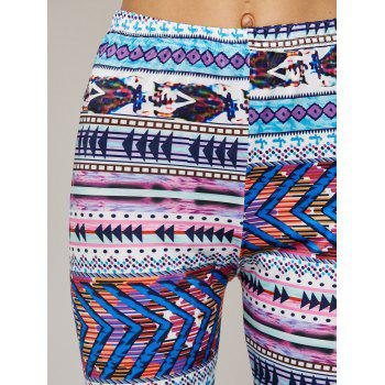 High Waist Tight Christmas Leggings - COLORMIX L