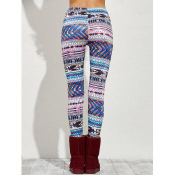 High Waist Tight Christmas Leggings - M M