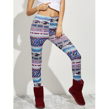 High Waist Tight Christmas Leggings - S S