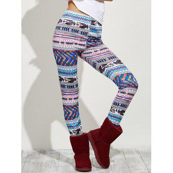 High Waist Tight Christmas Leggings - COLORMIX S