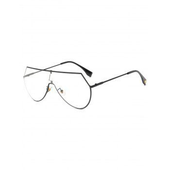 Transparent Lens Metal Wrap Sunglasses