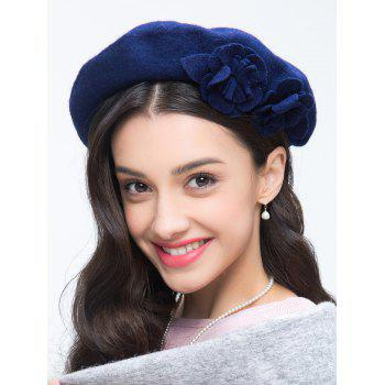 French Painter Beret with Flower