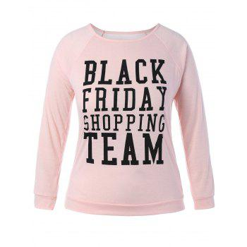 Plus Size Black Friday Long Sleeve Christmas T-Shirt