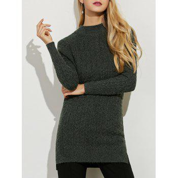 Side Slit Stretchy Long Sweater