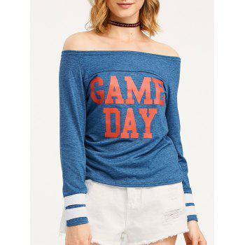 Game Day Print Off The Shoulder T-Shirt
