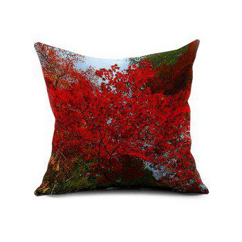 Floral Printed Car Seat Cushion Linen Pillow Cover