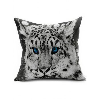 Tiger Head Linen Office Sofa Cushion Pillow Cover