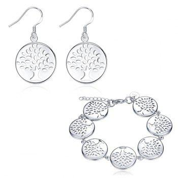 Engraved Christmas Tree Earrings with Bracelet