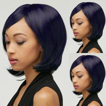 Straight Shaggy Short Oblique Bang Synthetic Wig