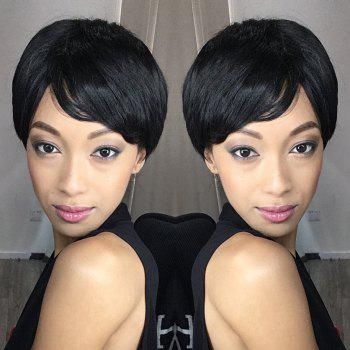 Oblique Bang Straight Spiffy Short Bob Synthetic Wig