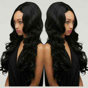Wavy Long Shaggy Centre Parting Synthetic Wig