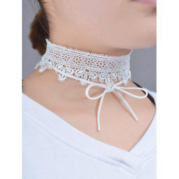 Lace Flower Bows Choker Necklace