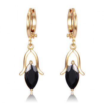 Droplight Faux Crystal Earrings