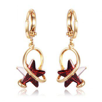 Geometry Star Faux Crystal Earrings